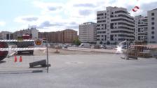 La nueva calle Miguel Delibes, de Logroño, se topa con la subestación eléctrica de Cascajos