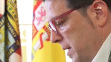 Hoy, en el Ayuntamiento de Logroño, primera junta del nuevo equipo de gobierno, con Kilian Cruz como portavoz
