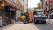 Obras en calle Mota y calle Mudarra