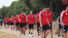 Último entrenamiento del Real Valladolid antes de viajar a Miami