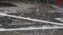 Las tormentas sorprenden a Valladolid