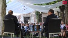 Javier Solana en  los Encuentros de Verano, organizados por la Universidad de Valladolid