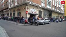 Colas para inscribirse en la marcha contra el cáncer del día 27 en Valladolid