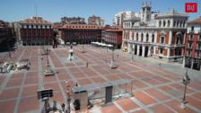 Hablan los afectados por las obras del aparcamiento de la Plaza Mayor de Valladolid