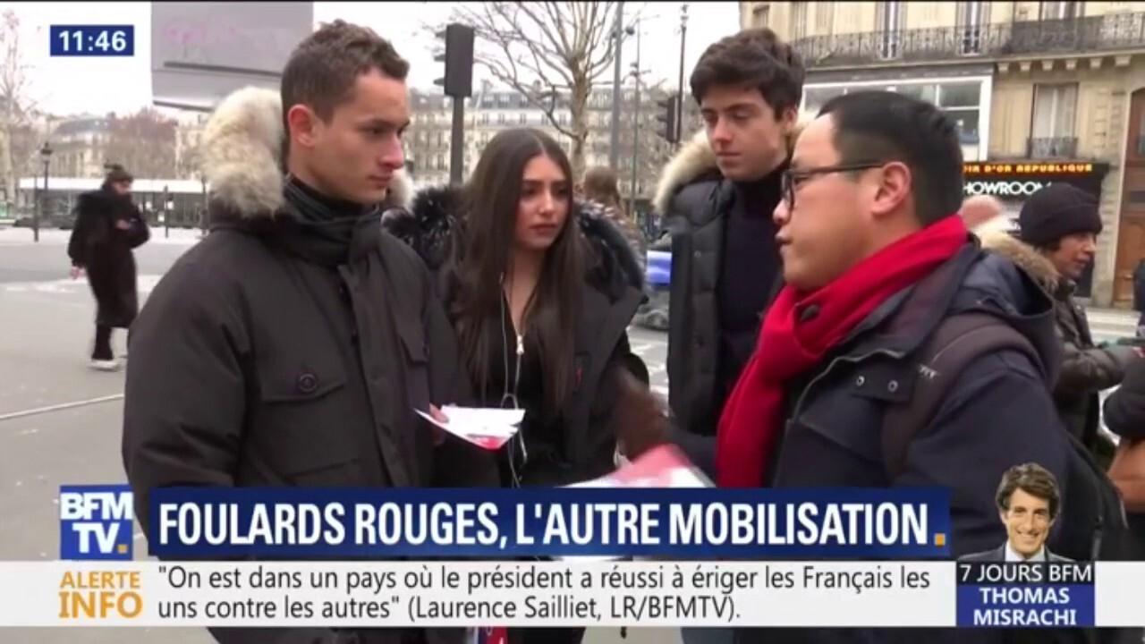 sélectionner pour véritable prix de gros meilleures offres sur Foulards rouges: quelle est cette autre mobilisation qui défilera à Paris  dimanche?