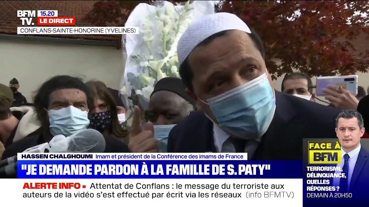 Hassen Chalghoumi, président de la Conférence des imams de France, demande  à toutes les mosquées de France de faire une prière pour Samuel Paty  vendredi