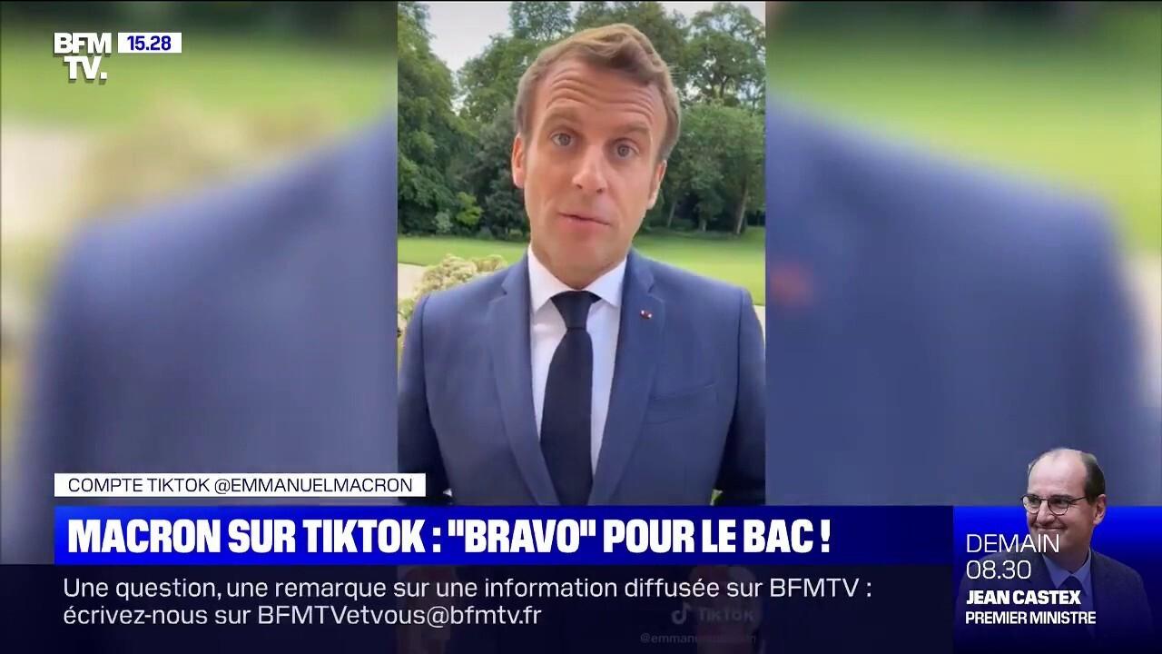Emmanuel Macron s'inscrit sur TikTok pour s'adresser aux bacheliers