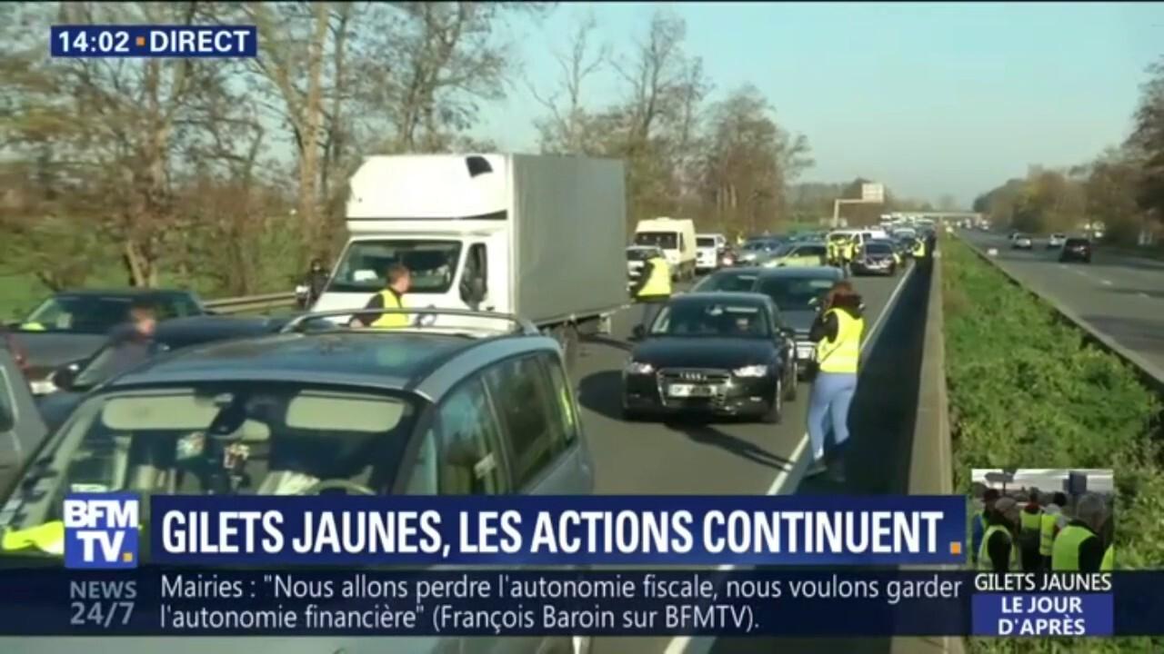 La mobilisation des gilets jaunes sur l autoroute A1 près de Lille e4186eb3f5c