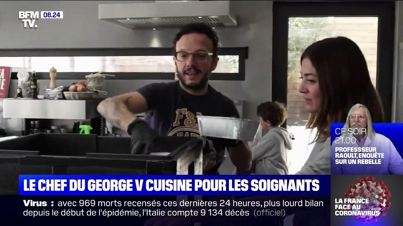 Coronavirus Le Chef Simone Zanoni Du George V Cuisine Pour Aider
