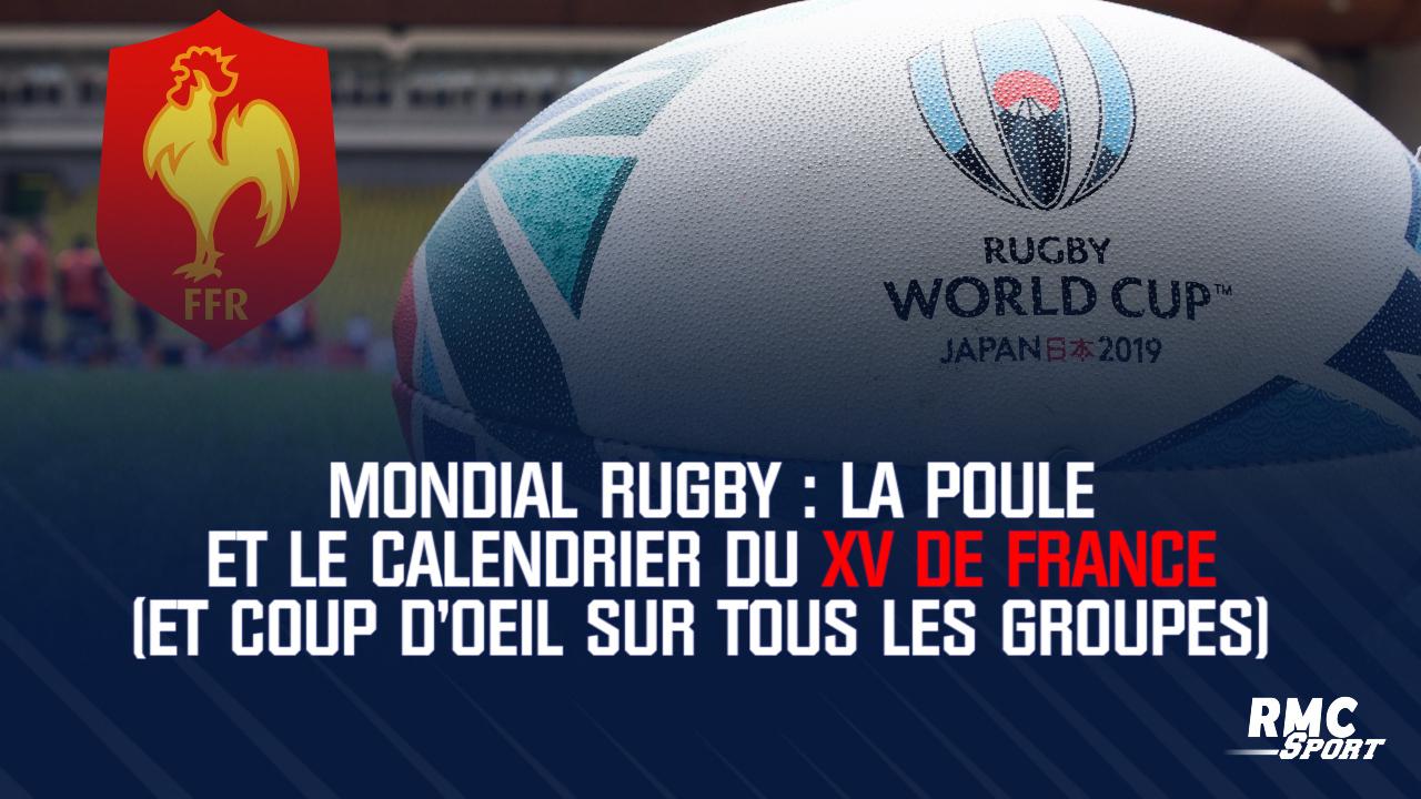 15 De France Calendrier.Mondial Rugby La Poule Et Le Calendrier Du Xv De France Et Coup D Oeil Sur Tous Les Groupes